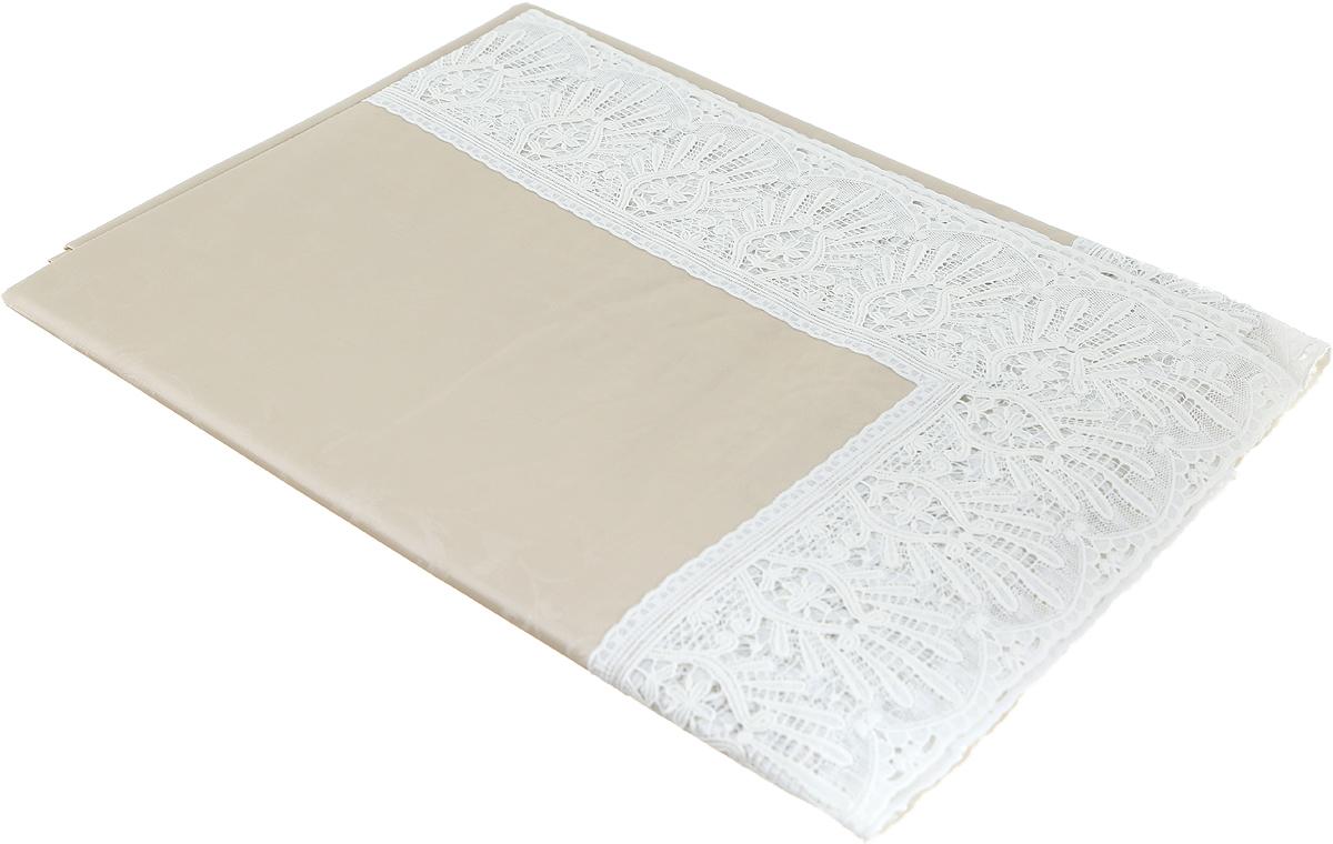 """Универсальная скатерть""""Meiwa"""" выполнена из ПВХ на нетканой основе. Технология создания скатертей под брендом """"Meiwa"""" отличается высочайшим качеством и сочетанием нескольких эффектов на одном полотне. В данной скатерти применяется тиснение с эффектом перелива/""""шелка"""" и печатный рисунок высокой четкости. Высокая пластичность и плотность материала создают иллюзию текстильной скатерти. Ажурная кайма с высокой детализацией элементов орнамента по контуру в сочетании с эффектом шелкового перелива придают изделию вид скатерти из благородных материалов. Скатерть красиво драпируется в углах стола, не скользит и не перемещается по гладкой поверхности, устойчива к загрязнениям и влаге, легко моется и быстро сохнет. Толщина изделия: 0,3 мм. Плотность пленки: 230 гр/м2.Плотность основы: 40 гр/м2."""