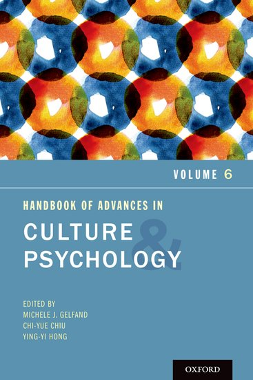 Handbook of Advances in Culture and Psychology, Volume 6 knights of sidonia volume 6