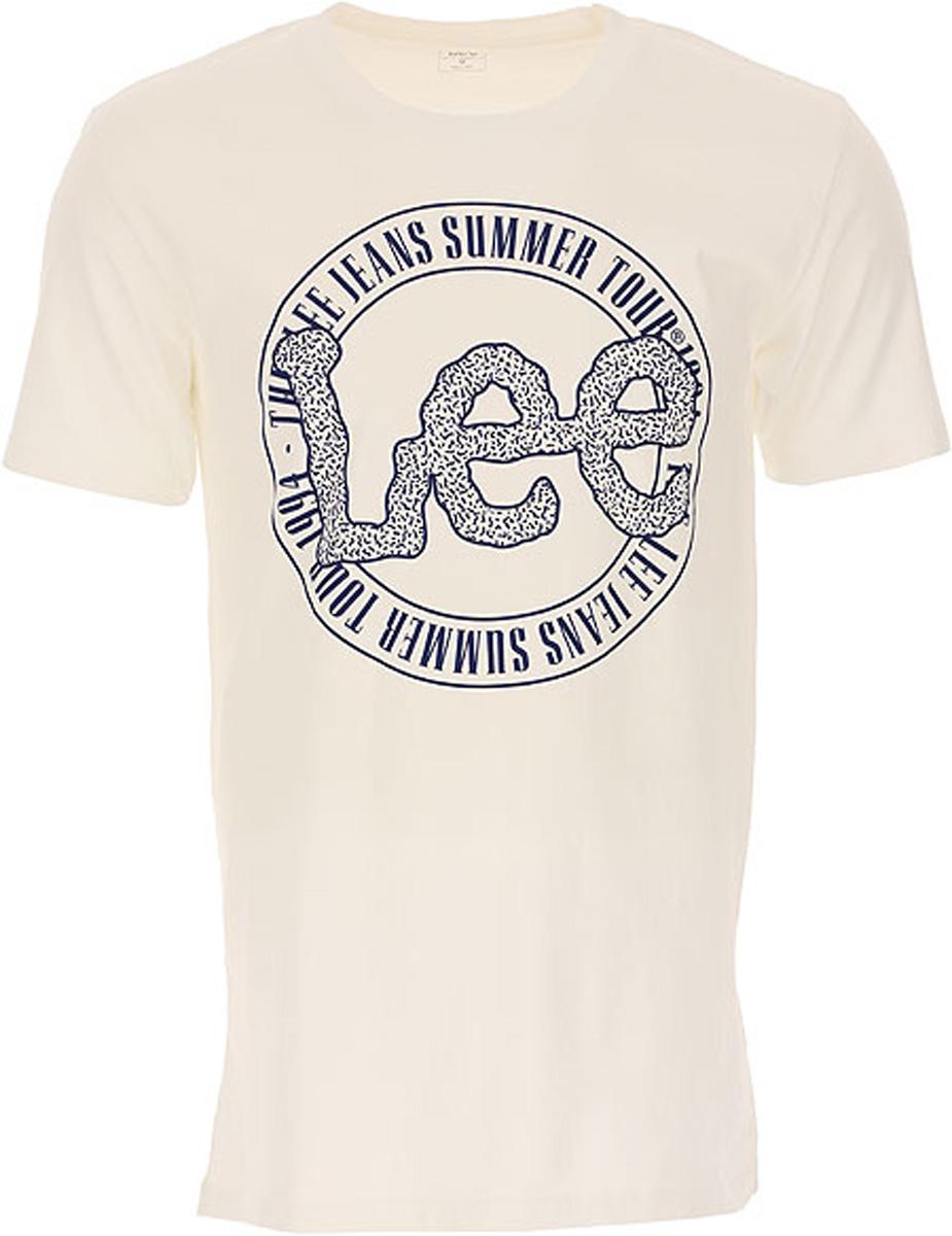Купить Футболка мужская Lee, цвет: белый. L62PAI12. Размер L (50)