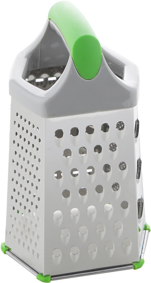Терка шестигранная Attribute Viva Grey-Green. ATV721ATV721Терка Attribute Viva Grey-Green выполнена из качественной нержавеющей стали и пластика, имеет удобную ручку, а также силиконовые ножки, которые надежно удерживают инструмент на рабочей поверхности. Каждая хозяйка оценит практичность и функциональность этой терки, а оригинальный дизайн станет украшением вашей кухни.