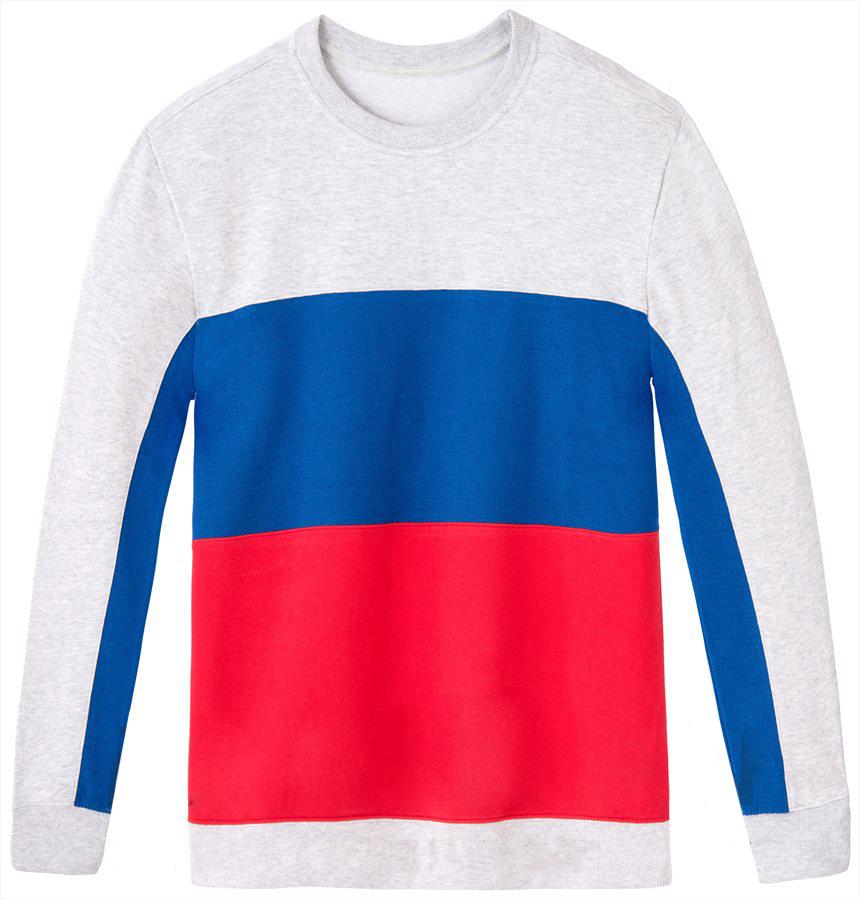 Купить Свитшот мужской Lee, цвет: серый, синий, красный. L80OQV03. Размер XXL (54)
