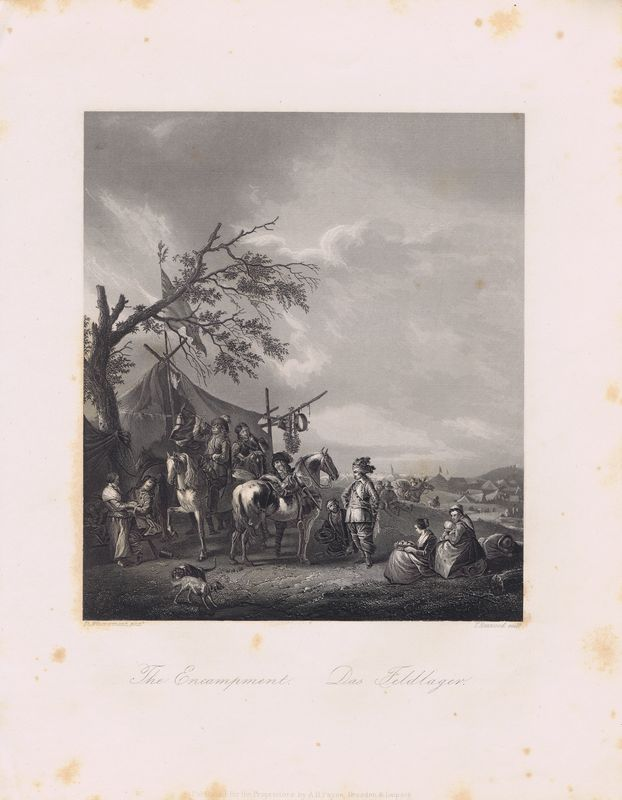 Лагерь. Офорт. Германия, Дрезден и Лейпциг, 1850-е