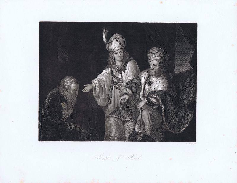 Иосиф и Иаков. Офорт. Германия, Дрезден и Лейпциг, 1850-е