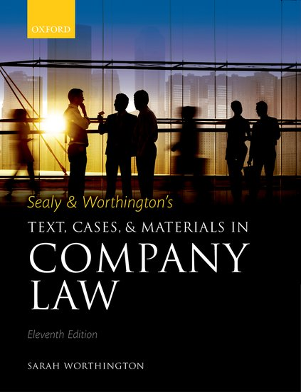 Sealy & Worthington's Text, Cases, and Materials in Company Law cases materials and text on consumer law