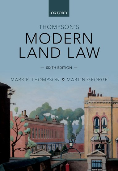 Thompson's Modern Land Law modern instrumentations of pharmaceuticals analysis
