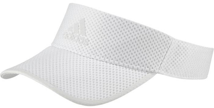 Козырек adidas R96 CC Visor, цвет: белый. CF5234. Размер OSFW (54/56)CF5234Этот беговой козырек от adidas защитит вас от солнца во время пробежек. Сетчатая конструкция с технологией Climacool обеспечивает отличную вентиляцию и ощущение прохлады, а регулируемый ремешок - индивидуальную посадку. Светоотражающие детали для безопасности в темное время суток.