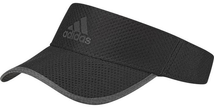 Козырек adidas R96 CC Visor, цвет: черный. CF5236. Размер OSFM (56/58)CF5236Этот беговой козырек от adidas защитит вас от солнца во время пробежек. Сетчатая конструкция с технологией Climacool обеспечивает отличную вентиляцию и ощущение прохлады, а регулируемый ремешок - индивидуальную посадку. Светоотражающие детали для безопасности в темное время суток.