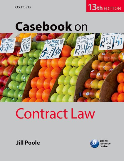 Casebook on Contract Law a casebook on european consumer law