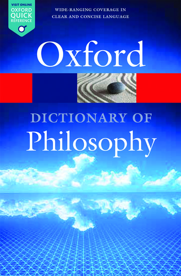 The Oxford Dictionary of Philosophy oxford school spelling dictionary