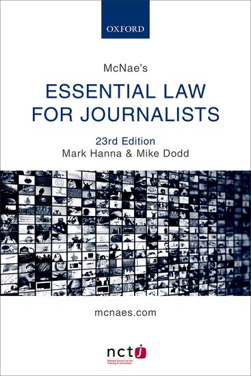 McNae's Essential Law for Journalists journalists and online communities