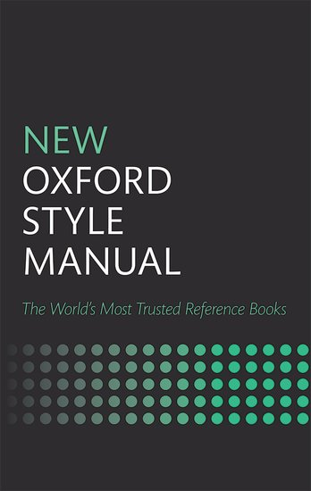 New Oxford Style Manual oxford school spelling dictionary