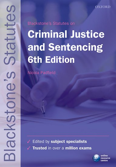 Blackstone's Statutes on Criminal Justice & Sentencing use of english b2 for all exams