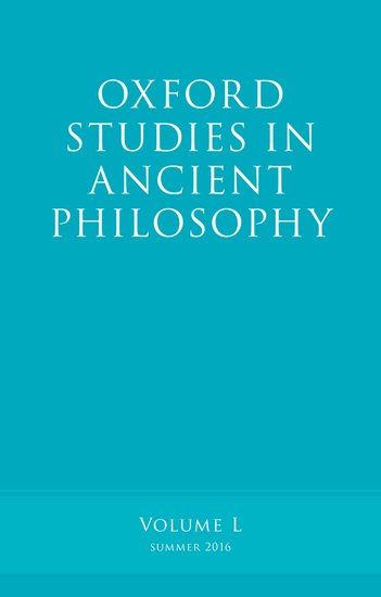 Oxford Studies in Ancient Philosophy, Volume 50 knights of sidonia volume 6
