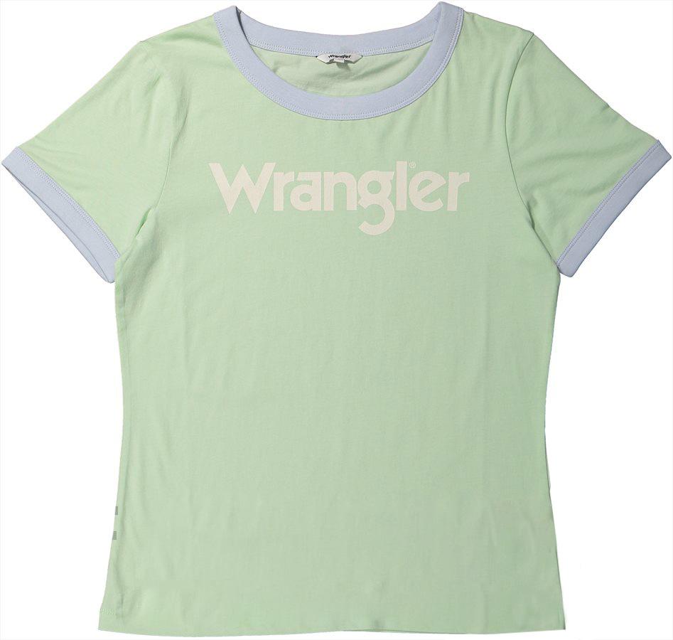 Футболка женская Wrangler, цвет: зеленый. W716SEVUG. Размер XS (40) wrangler wr224amlir98 wrangler