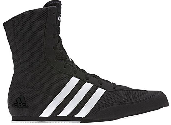 Боксерки мужские Adidas Box Hog.2, цвет: черный, белый. BA7928. Размер 10 (43)