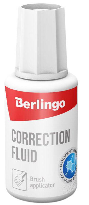 Berlingo Корректирующая жидкость 20 млKR110Корректирующая жидкость Berlingo на водной основе без резкого запаха поможет вам исправить ошибки в текстах. Быстро засыхает и позволяет наносить новые надписи почти сразу. Надежный колпачок предотвращает засыхание.Корректор прекрасно подходит как для использования детьми в школе, так и для домашних или рабочих целей. Уважаемые клиенты!Обращаем ваше внимание на возможные изменения в дизайне упаковки. Качественные характеристики товара остаются неизменными. Поставка осуществляется в зависимости от наличия на складе.