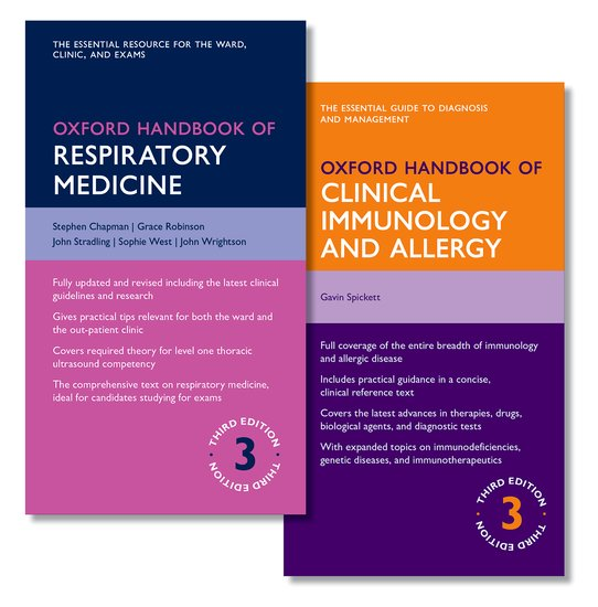Oxford Handbook of Respiratory Medicine and Oxford Handbook of Clinical Immunology and Allergy oxford textbook of medicine cardiovascular disorders