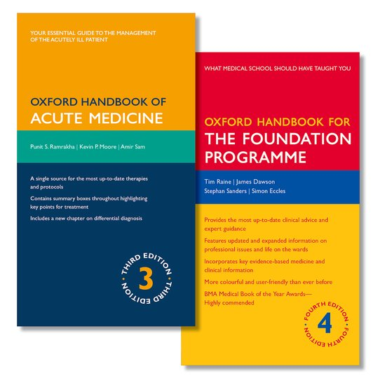 Oxford Handbook of Acute Medicine and Oxford Handbook for the Foundation Programme oxford textbook of medicine cardiovascular disorders