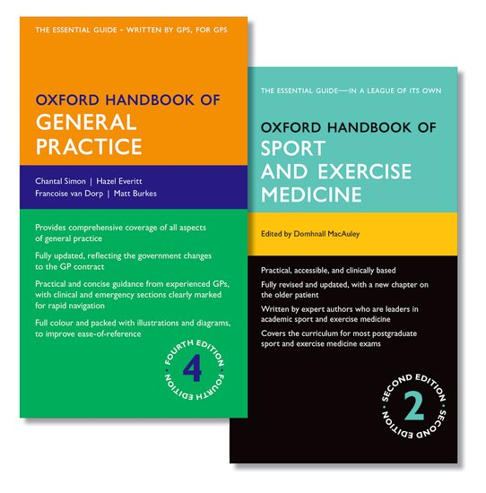 Oxford Handbook of General Practice and Oxford Handbook of Sport and Exercise Medicine oxford textbook of medicine cardiovascular disorders