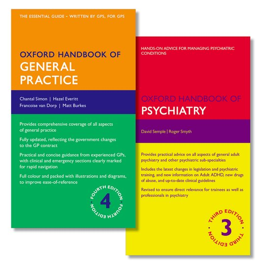 Oxford Handbook of General Practice and Oxford Handbook of Psychiatry handbook of online pedagogy