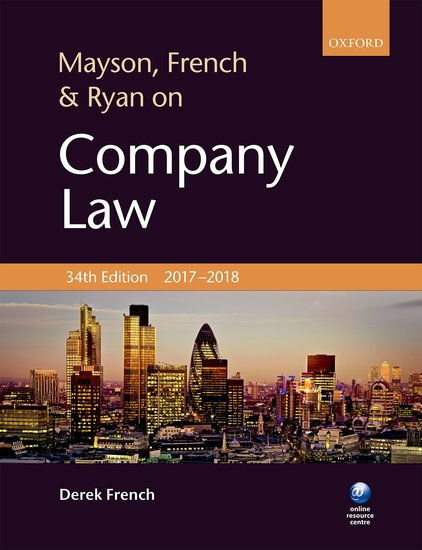 Mayson, French & Ryan on Company Law cases materials and text on consumer law