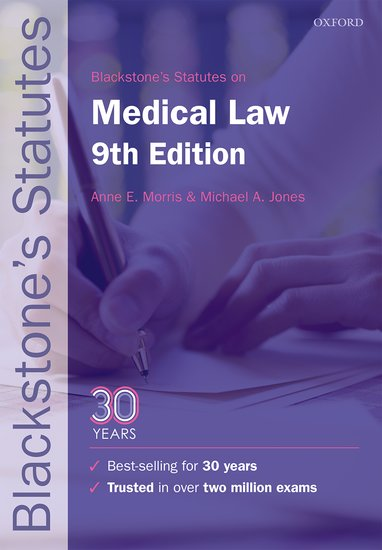 Blackstone's Statutes on Medical Law use of english b2 for all exams