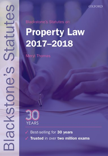 Blackstone's Statutes on Property Law 2017-2018 use of english b2 for all exams