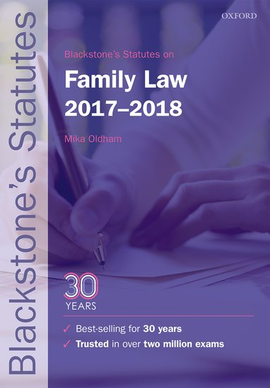 Blackstone's Statutes on Family Law 2017-2018 use of english b2 for all exams