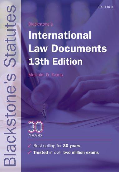 Blackstone's International Law Documents international law documents