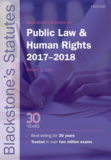 Blackstone's Statutes on Public Law & Human Rights 2017-2018 use of english b2 for all exams