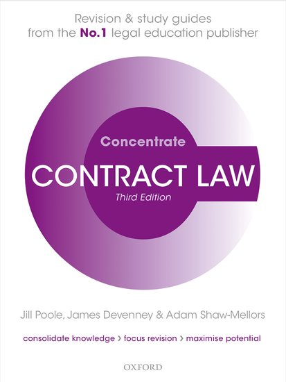 Contract Law Concentrate cases materials and text on consumer law
