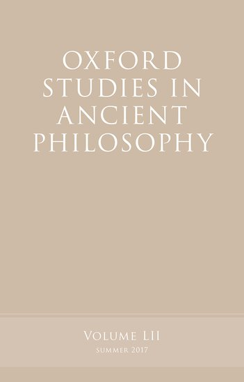 Oxford Studies in Ancient Philosophy, Volume 52 knights of sidonia volume 6