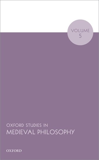 Oxford Studies in Medieval Philosophy Volume 5 personification and the feminine in roman philosophy
