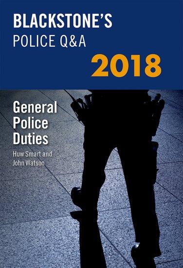 Blackstone's Police Q&A: General Police Duties 2018 police pl 12921jsb 02m