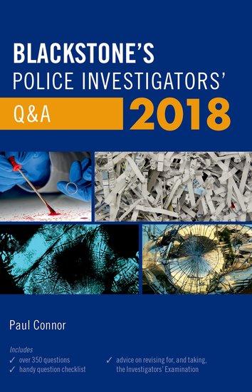 Blackstone's Police Investigators' Q&A 2018