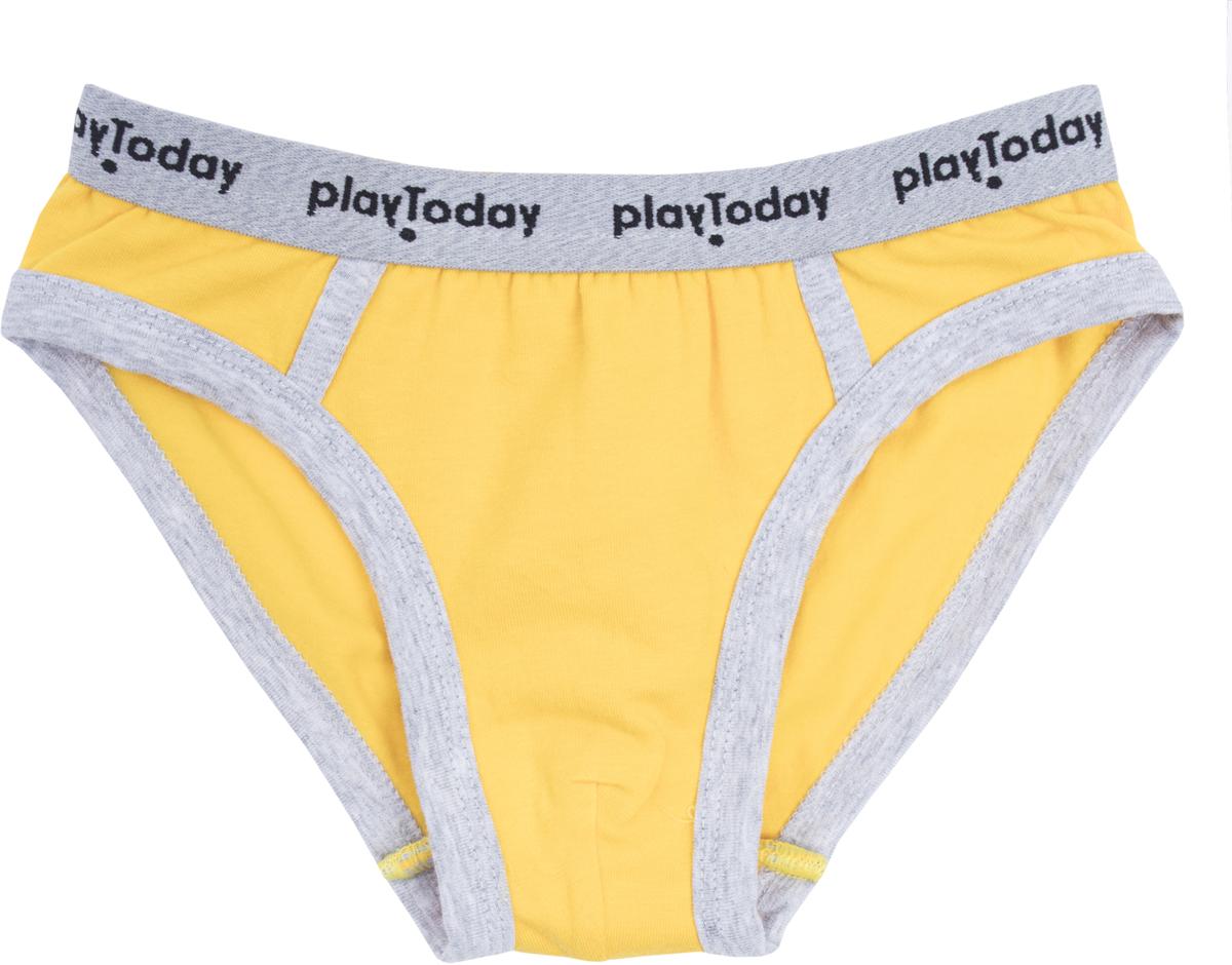 Трусы для мальчика PlayToday Baby Джунгли зовут!, цвет: желтый, светло-желтый, белый, 3 шт. 187072. Размер 92/98, Одежда для мальчиков  - купить со скидкой