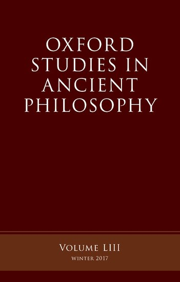 Oxford Studies Ancient Philosophy oxford studies in philosophy of religion volume 8