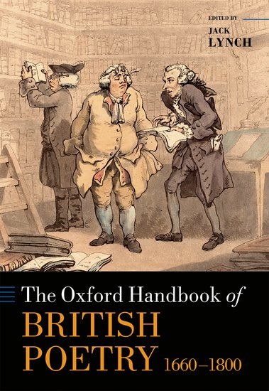 The Oxford Handbook of British Poetry, 1660-1800 creating alternative history the online poetic responses to 9 11