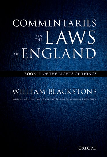 The Oxford Edition of Blackstone's: Commentaries on the Laws of England catalog of teratogenic agents first edition