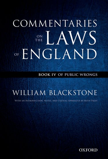 The Oxford Edition of Blackstone's: Commentaries on the Laws of England the ninth life of louis drax