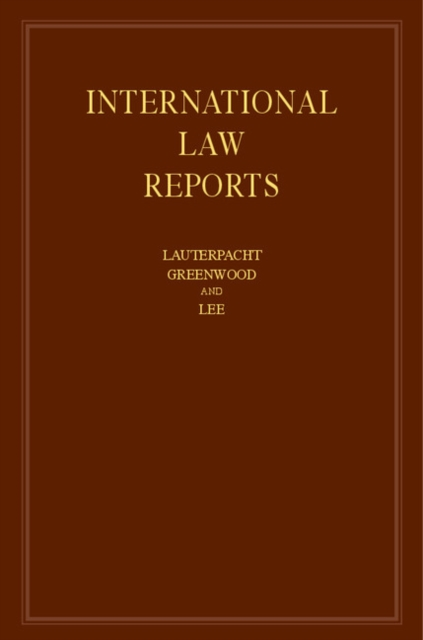 International Law Reports international law reports