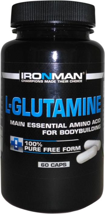 цена на Аминокислота Ironman L-Глютамин, 60 капсул