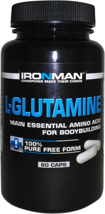 Аминокислота Ironman L-Глютамин, 60 капсул ironman коллаген в екатеринбурге