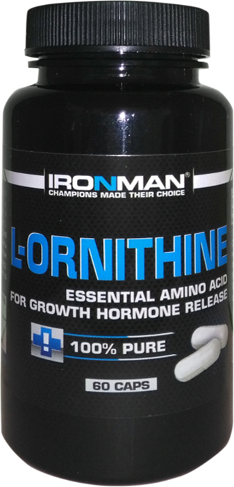 Аминокислота Ironman L-Орнитин, 60 капсул ironman коллаген в екатеринбурге