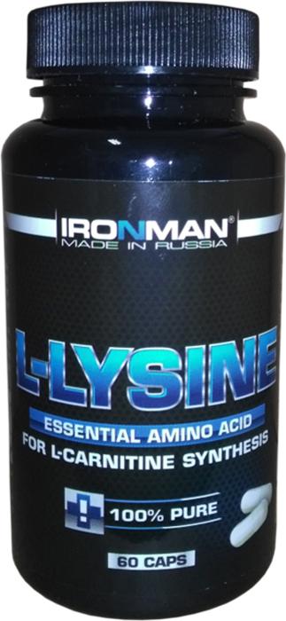 Аминокислота Ironman L-Лизин, 60 капсул ironman коллаген в екатеринбурге