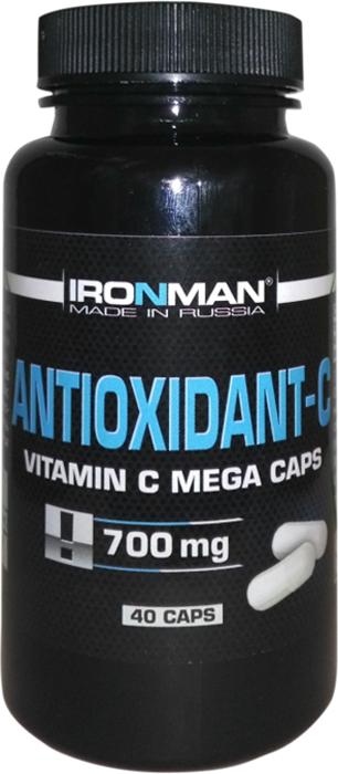 Антиоксидант Ironman Антиоксидант-С, 40 капсул торт printio прикольный на 23 февраля пинап андрея тарусова