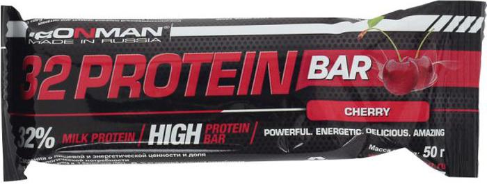 """Батончик протеиновый Ironman """"32 Protein"""", фруктовый, темная глазурь, 50 г"""