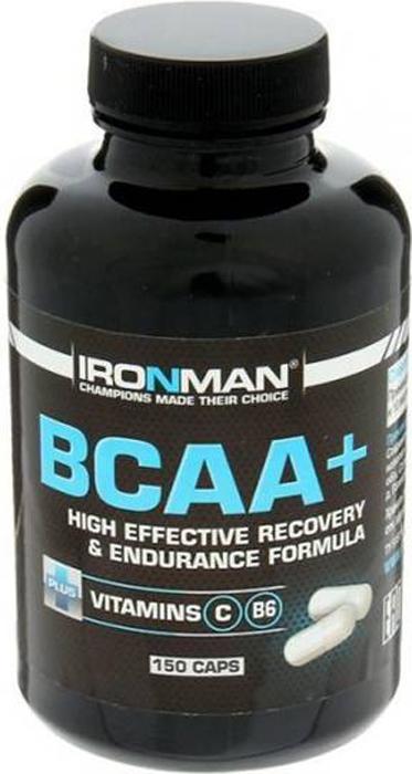 Аминокислотный комплекс Ironman BCAA+, 150 капсул аминокислоты geneticlab bcaa pro дыня 250 г