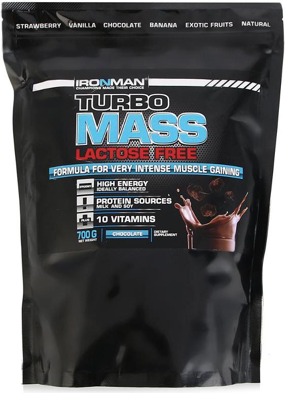 Гейнер Ironman Турбо Масс, без лактозы, шоколад, 700 г ironman коллаген в екатеринбурге
