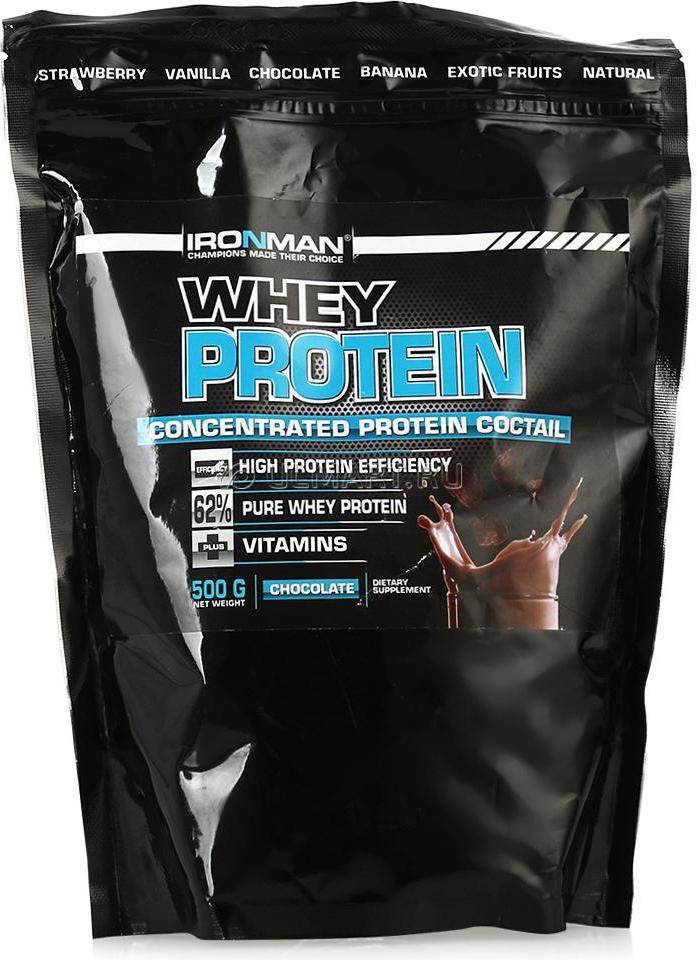 Протеин сывороточный Ironman Шоколад, 500 г4607062759004Сывороточный протеин Ironman Шоколад - это концентрированный (62%) белок молочной сыворотки. Белок молочной сыворотки является наиболее легкоусвояемым и одним из самых ценных белков. По аминокислотному составу он наиболее близок к белку женского молока. В сравнении с казеином, он содержит в 4 раза больше цистеина и в 19 раз больше триптофана. Кроме того, белок молочной сыворотки обладает явно выраженными иммунными свойствами.Состав:Концентрат сывороточного белка Armor Proteines S.A.S., Франция, аспартам, натуральный или идентичный натуральному ароматизатор Rudolf Wild GmbH, Германия, смесь витаминов фирмы Doehler GmbH, Германия, какао для вкуса шоколад, Германия, загуститель Texogum фирмы Nexira, Франция.